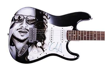 Metallica Kirk Hammett - Guitarra de aerógrafo autografiada y a prueba de AFTAL: Amazon.es: Hogar