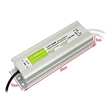 YaeTek 12V DC Transformer IP67 Waterproof Electronic LED Driver Power Supply,Input: AC 90-250V, 50/60Hz (12V 150W 12.5A)