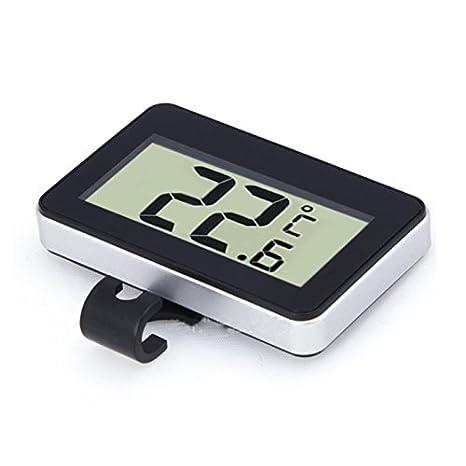 REFURBISHHOUSE termometro Digital inalambrico con Gancho magnetico para refrigerador Refrigerator Fridgecolor (Negro)