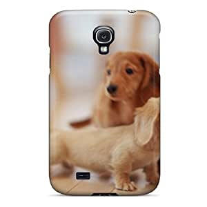 Fashion Protective Animals Dogs Puppies Dachshund Case Cover For Galaxy S4