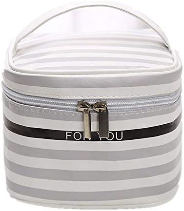 化粧品袋 さんの美しさのケースポータブル旅行化粧品袋のトイレタリーキットには、女の子の女性のためのジッパーの気質のオーガナイザー収納袋をパターン化 旅行化粧収納ボックス (Color : Stripe)