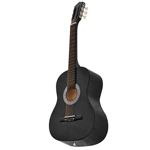 [해외]Super buy 어쿠스틱 기타 W 기타 케이스 스트랩 튜너 새로운 초보자 용 블랙 선택/Super buy Acoustic Guitar W Guitar Case Strap Tuner Pick For New Beginners Black