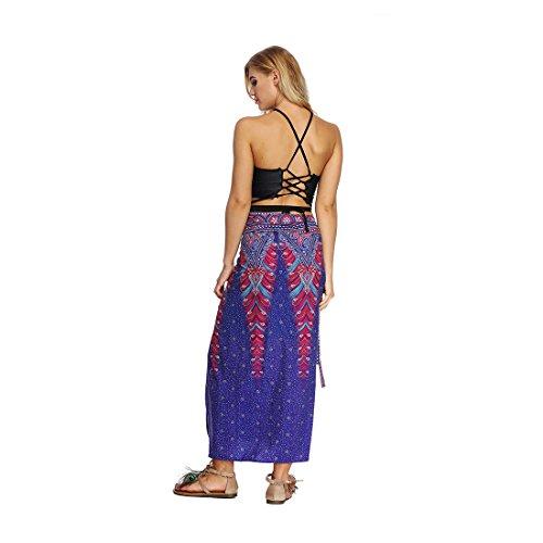 Cover Violet Up La Femme Envelopper Bohme Jiayiqi Up Jupe Tie Imprim vTw8Ffq
