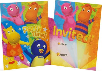 The Backyardigans: Die Cut Invitations (The Backyardigans Games Halloween)