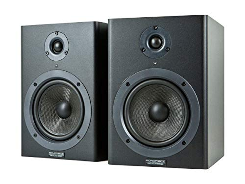 Monoprice Stage Right 5-inch Powered Studio Multimedia Monitor Speakers (pair) - (605500)