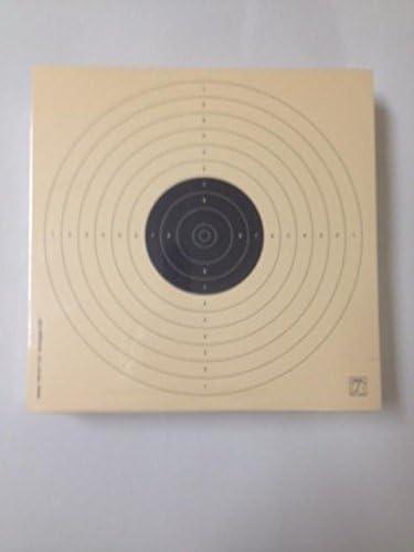 Color Teja Fabricadas en cartulina Papel Col de 200 grs antirreflejos. tama/ño 17 * 17 Cm Klamer Paquete de 100 dianas de Tiro Ol/ímpico de la modalidad de Precisi/ón Pistola Aire 10 Metros ISSF