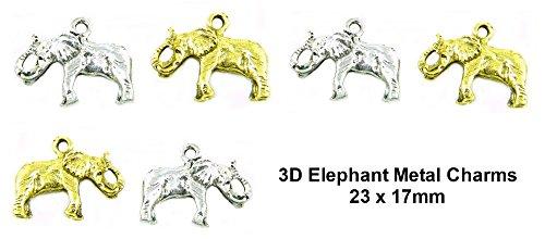Gold 3d Elephant Charm - 1