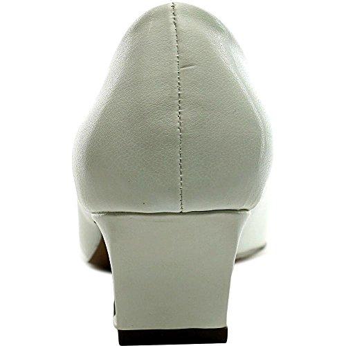 Alexis Femme De La Rue Facile Robe Pompe Blanc / Blanc Brevet