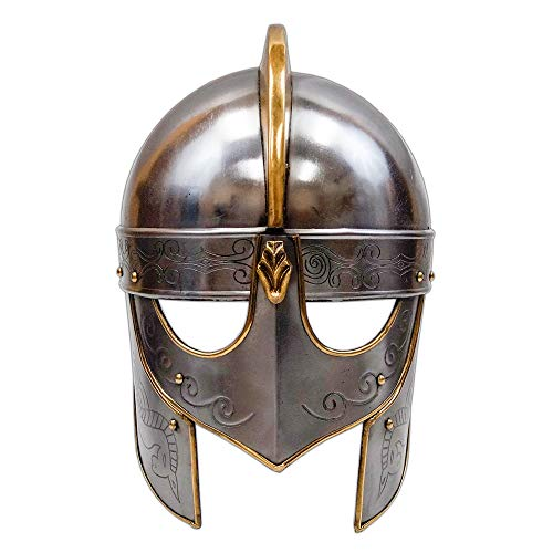 Medieval Viking Crusader Helmet Warrior Armor Knight Adult Costume Functional (Without Chainmail) -