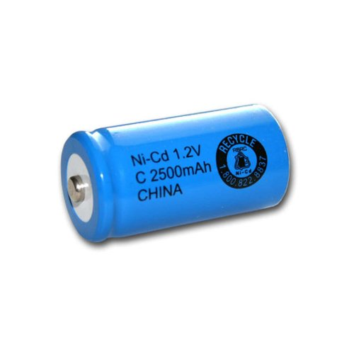 Exell 1.2V 2500mAh NiCD C Rechargeable Battery Button Top Cell FAST USA SHIP