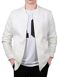 Allegra K Men Argyle Design Stand Collar Zippered Jacket