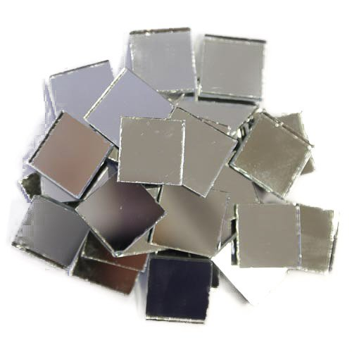Espejo de cristal Azulejos, Plata, 2 cm x 2 cm x 3 mm 200 gramos aprox. 70 azulejos 2cm x 2cm x 3mm 200gramos aprox. 70azulejos Mosaic Supplies