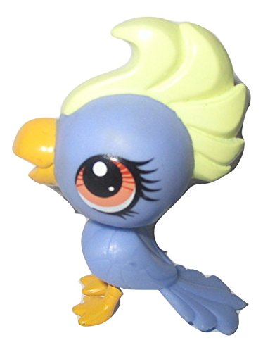 Littlest Pet Shop Blue Cockatoo Brown Eyes #3296 LOOSE//Packaged in Parts Bag Has
