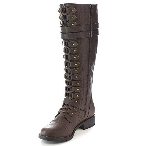 Wild Brown Up Lace 65 Diva Boots Timberly Knee gwq0gr