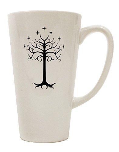 TooLoud The Royal White Tree 16 Ounce Conical Latte Coffee Mug ()