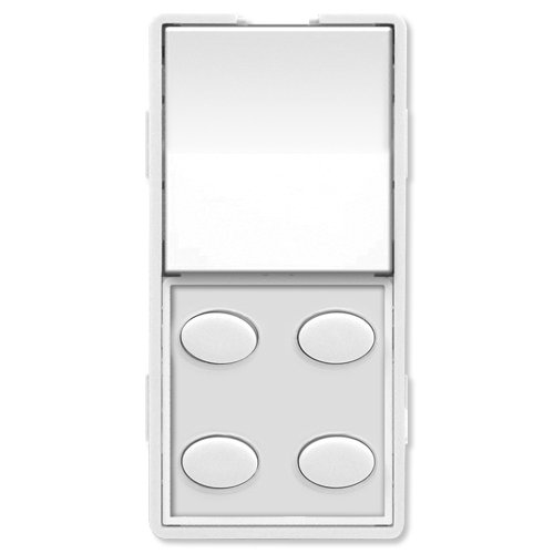 5O-W Custom Series Single-Rocker with Oval 4-Button Faceplate, White ()