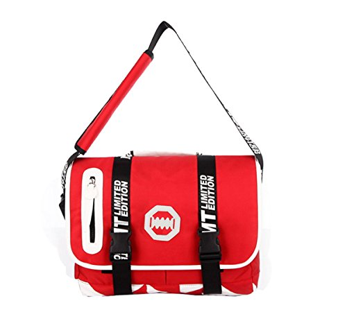Para hombre para mujer mensajero viajar hombro Maletín portátil Bolsa Bolso de mano, Red (rojo) - AHATECH-123 Red
