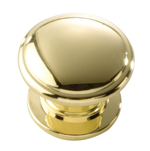 Hickory Hardware P3053-PB 1-1/4-Inch Williamsburg Cabinet Knob, Polished Brass - Hickory Brass Knobs