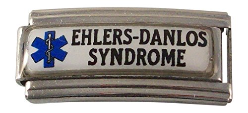 - Gadow Jewelry 2 Ehlers-Danlos Syndrome Medical ID Alert Italian Charms for Bracelet