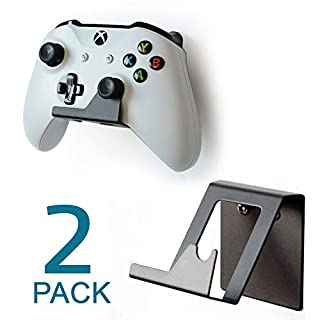 Monzlteck New Controller Holder Wall Mount for Xbox One Controller/Switch Pro Controller, Non-Slip Design(Pair)