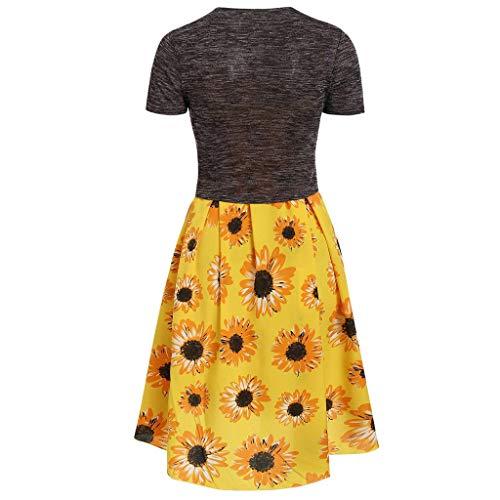 (Nadition Women Fashion Solid Twist Short Sleeve Cami Sexy Spaghetti Strappy Flower Pleat Dress with Crop T-Shirt)