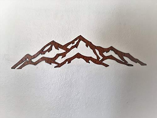 Rustic Ski Resort. Metal Wall Art Mountain