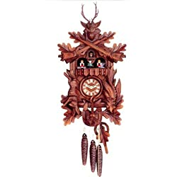 Original One Day Mechanical Movement Cuckoo Clock with Dancing Couples and 2 Songs 22 Inch
