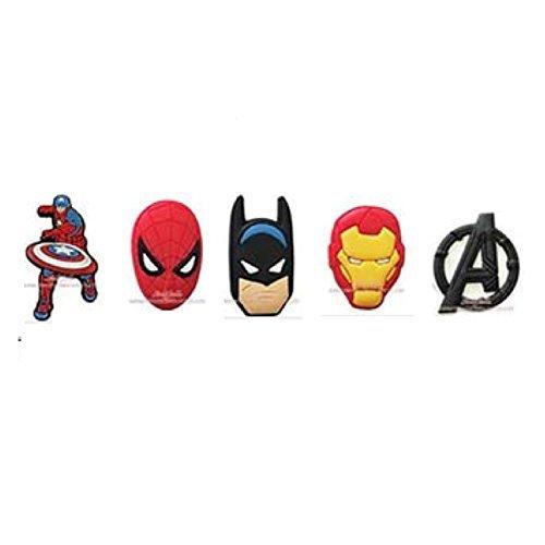 298c9bad4 Avengers Jibbitz (Generic) Set of 5 PVC Assorted Jibbitz Crocs - Import It  All