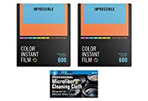 Impossible PRD4522 Color Glossy Film for Polaroid 600 Cameras - Color Frame - 2 Pack