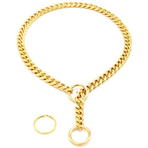 Neck Length 3.0Mm Diameter Dog Choke Choker Necklace Thick Silver Gold Chrome Steel Metal Training 70Cm Length (Color : -, Size : ()