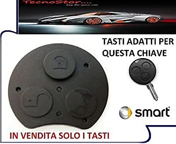 Teclas Mando a distancia carcasa llave Smart Fortwo 450 ...