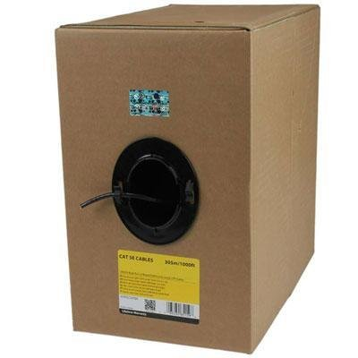 - 1 - 1000' Roll Bulk Cat5e Cbl Blk