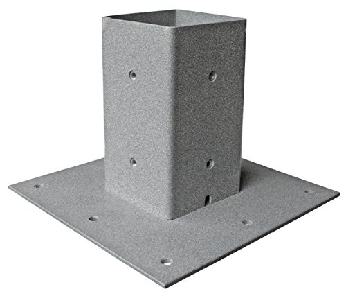 Mail Boss 7156 Surface Mount Post Base Plate, Granite