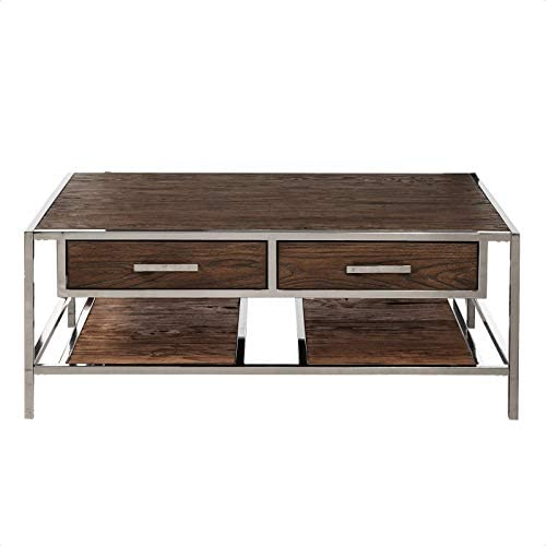 Amazon Com Falkner Coffee Table With Storage Kitchen Dining
