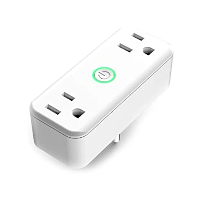 DOGAIN Alexa Smart Outlet Plug dual socket working individually,compatible  with Google Home/IFTTT,Remote and Voice control socket with WiFi,no hub