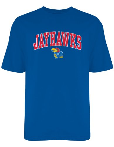 Jayhawk Tee (NCAA Kansas Jayhawks Gildan T-Shirt, Large, Royal)
