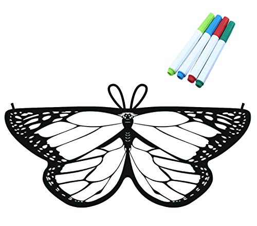 Butterfly Wings Coloring Crafts for Kids Fun Halloween Poncho Costumes Fairy Dancing Festival Accessories