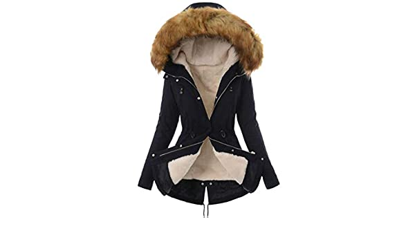 725e0d9c799 Amazon.com  OTW Women Plus Size Loose Fit Thermal Faux Fur Hoodie Down  Quilted Jacket Coat Outerwear  Clothing