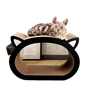 hubulk Vamundo forma Ultimate rascador de gato cama salón sofá de cartón corrugado con Catnip: Amazon.es: Productos para mascotas
