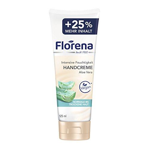 Florena Handcreme Aloe Vera, Intensive Feuchtigkeit, 6er Pack (6 x 125 ml)