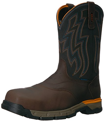 Ariat Work Men's Rebar Western H2O Composite Toe Work Boot, Chocolate Brown, 11.5 D (Toe Boots Chocolate)