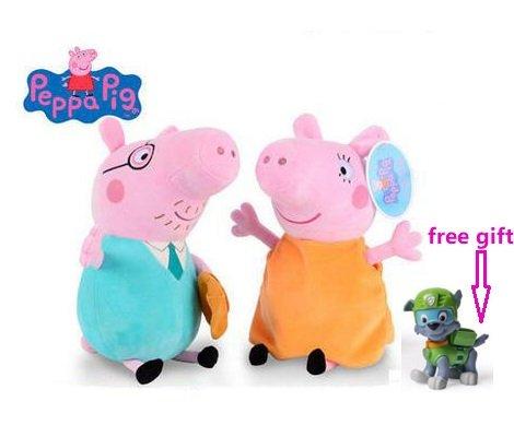 Peppa Pig Plush Toy --Daddy & Mommy pig 2pcs 12(30 cm) hua wang