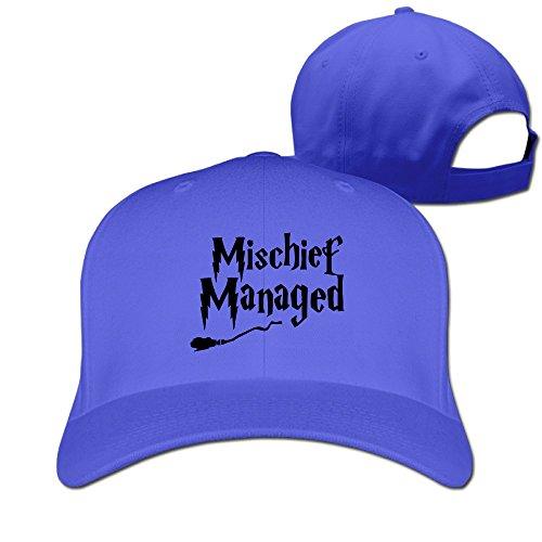 Mens Mishchief Managed Harry Potter Adjustable Solid Baseball Hat Caps