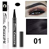Bleaching Cream On Tattoo - Fashion Fork Tip Pen Eye Makeup Microblading Tattoo 4 Head Durable Long Lasting Eyebrow Painting For Women Lady Girls
