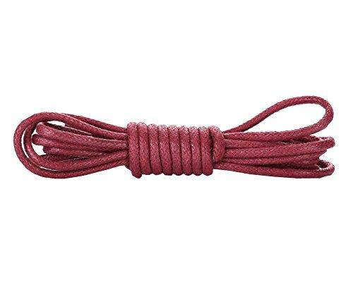 Gewachste runde Schnürsenkel - extra haltbar - Schuhe und Stiefel Schnürsenkel 1 Paar Pack, F