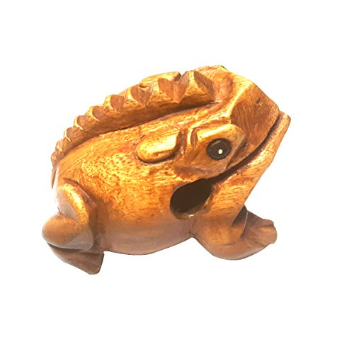 Wood Frog Guiro Rasp Wooden Handcraft Musical Instrument Tone Block World Percussion USA Medium 4 Inch Wood Toy