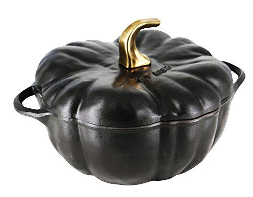 Staub Cast Iron 3.5-qt Pumpkin Cocotte - Matte Black