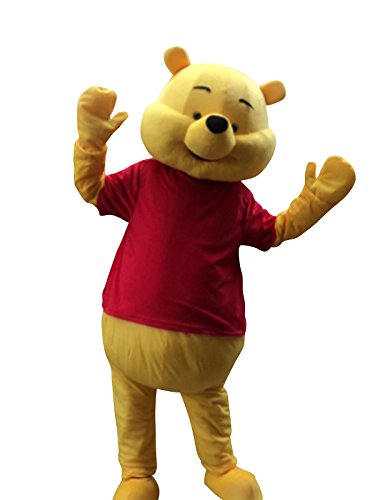 Winnie The Pooh Bear Halloween Mascot Costume Fancy Dress Suit Outfit -