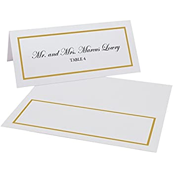 photo regarding Gold Printable Place Cards identify Files and Ideas Solitary Line Border Very simple Print Issue Playing cards, Gold, Established of 60 (10 Sheets)