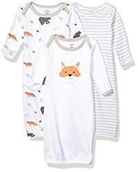 Touched by Nature organic cotton gowns feature playful patterns for sweet dreams. Our organic fabric is super-soft and gentle on baby's skin, making sleep time cozy and comfortable. The elastic band at the bottom and a lap neck make dressing and diap...